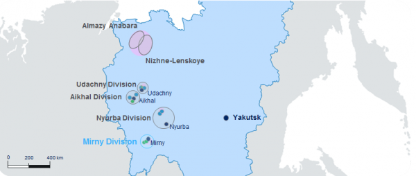 Location of Mirny MPD